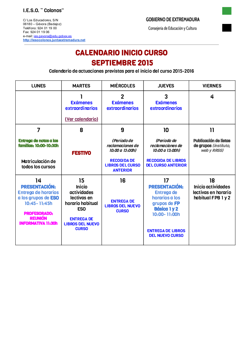 CALENDARIOPADRESINICIODECURSO15-16